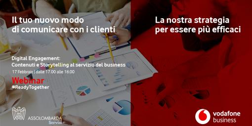 Digital Engagement: contenuti e storytelling al servizio del business - Iscriviti all'evento del 17 febbraio